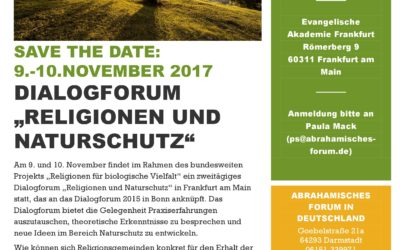 "Save the date: Dialogforum ""Religionen und Naturschutz"