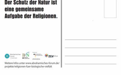 Postkartenserie: Religionen und Naturschutz