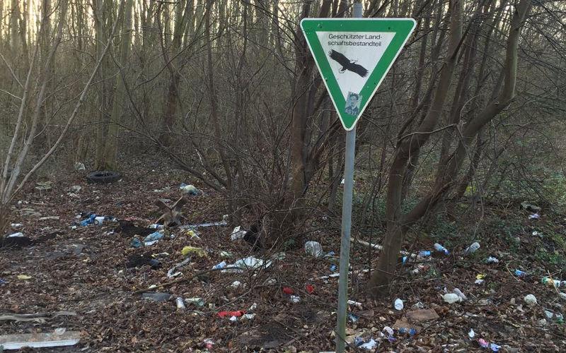 Köln: Wir sammeln Müll im Naturschutzgebiet!