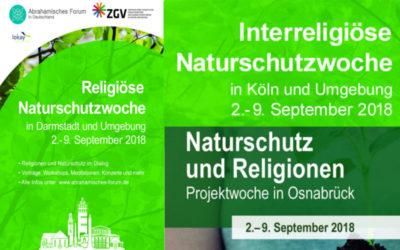 Pressemitteilung:  Religionen und Naturschutz – Projektwochen in Osnabrück, Köln und Darmstadt starten