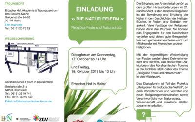 """Einladung zum Dialogforum """"Die Natur feiern"""""""