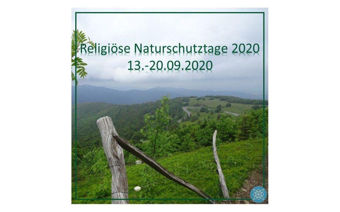 Religiöse Naturschutztage beginnen am 13.09!