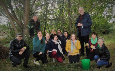 Erntedank und Laubhüttenfest – Ein Nachmittag an der Bacherlebnisstation Ladenburg