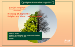 online: Kick Off zum ersten interreligiösen Klimafestival @ online